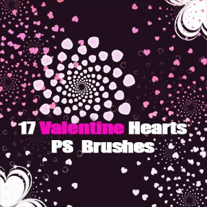 Free Hearts PS Brushes