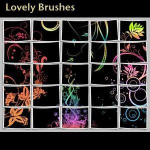 Photoshop brushes swirls, ornament, decorative