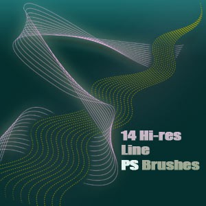 Photoshop brushes blend lines
