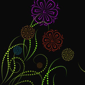 Photoshop brushes dots,swirls,ornaments