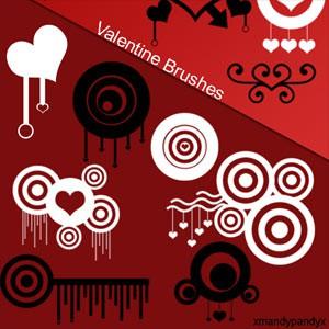 Photoshop brushes shapes,valentine, heart