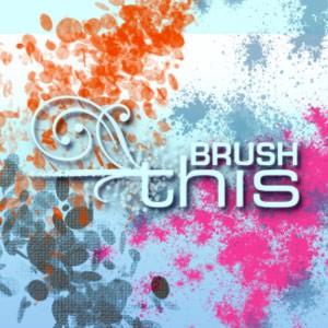 Photoshop brushes splatter