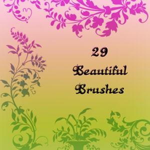 Photoshop brushes ornament,floral,elements,decorative, ornamental