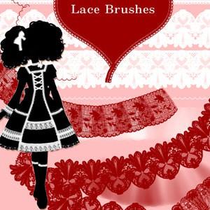 Photoshop brushes lace, ornament