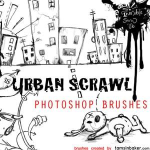 Photoshop brushes urban doodle