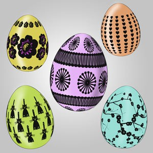 Photoshop brushes easter eggs