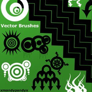 Photoshop brushes abstract shapes vector