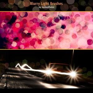 Photoshop brushes blurry light
