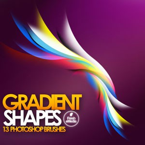 Photoshop brushes Gradient Shape