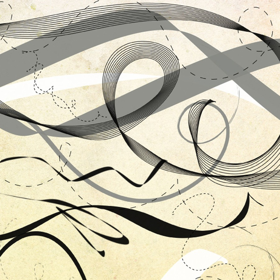 Photoshop brushes ribbon, swirls, abstract