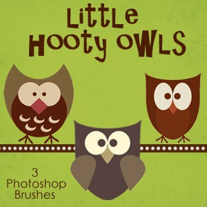 Photoshop brushes owls
