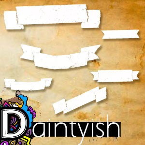 Photoshop brushes banner, ribbon