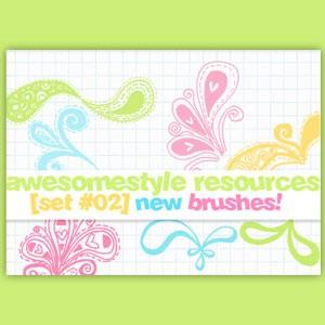 Flourish Doodle Brushes