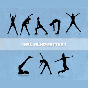 Photoshop brushes girls, silhouettes