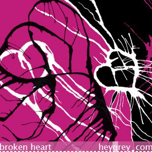 Photoshop brushes broken heart