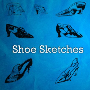 Photoshop brushes shoes, sketches