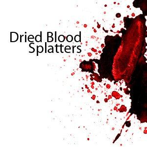 Photoshop brushes blood, splatters