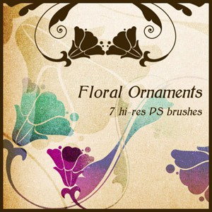 Photoshop brushes floral ornaments