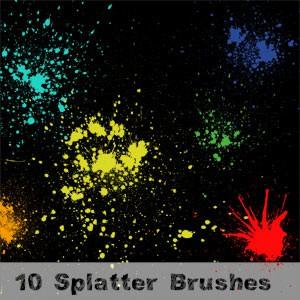 Photoshop brushes splatters