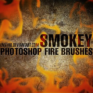 Photoshop brushes fire