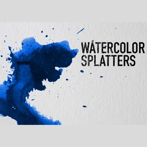 Photoshop brushes watercolor, splatters