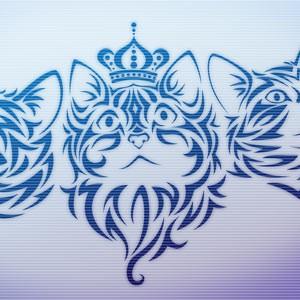 Photoshop brushes tribal cat