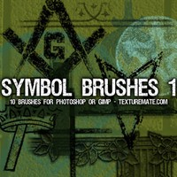 Symbols 1 Brush Pack