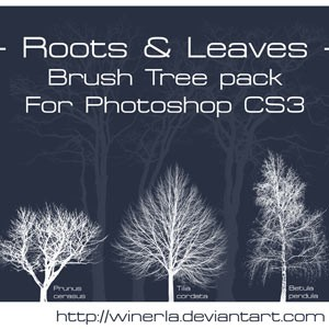Photoshop brushes tree, collection