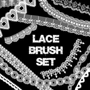 Photoshop brushes laces, collection