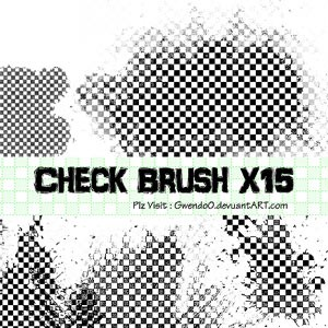 Photoshop brushes checkered, patterns