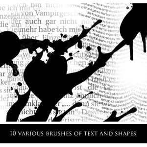 Text and Shapes Brushes