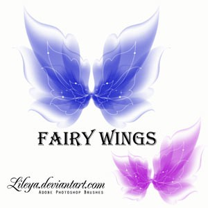 Photoshop brushes fairy, wings, collection