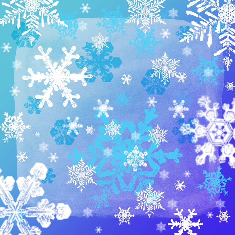 Photoshop brushes snowflakes
