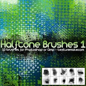 Photoshop brushes halftone