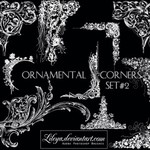Ornamental Corners set 2