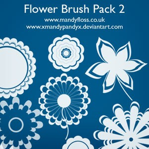 Photoshop brushes graphic, flowers, silhouettes