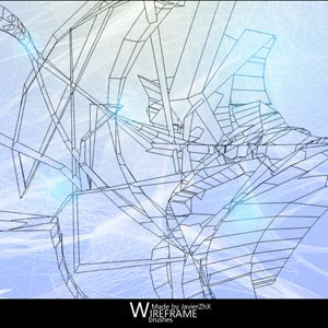 Photoshop brushes wireframe,abstract
