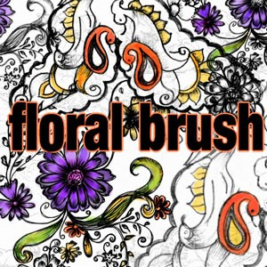 Photoshop brushes floral, ornaments, flowers