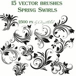 Spring Swirls Vector Brushes