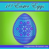 Patchwork Easter Eggs Set