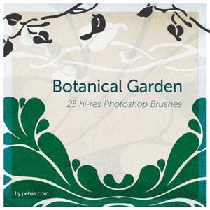 Photoshop brushes ornaments, botanical