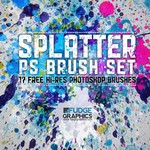 Hi-Res Splatter PS Brush Set