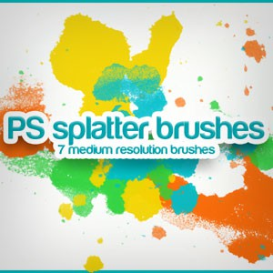 Photoshop brushes splatter, abstract