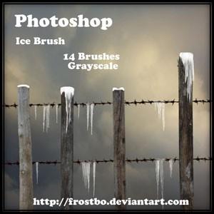 Photoshop brushes icicles