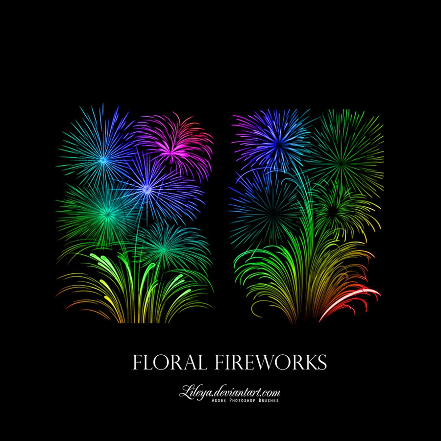 Photoshop brushes fireworks