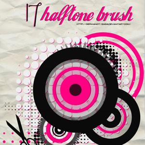 Photoshop brushes halftone, shapes