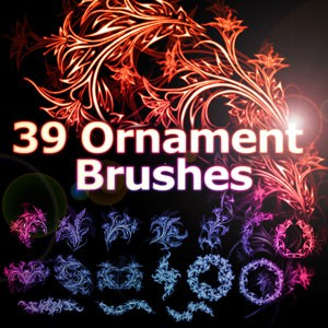 Photoshop brushes floral,ornaments, swirls