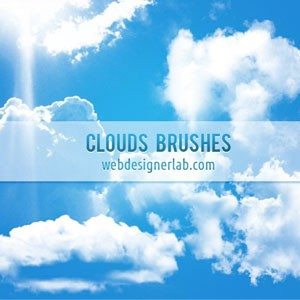 Photoshop brushes clouds, sky