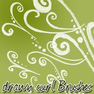 Photoshop brushes doodle, swirls