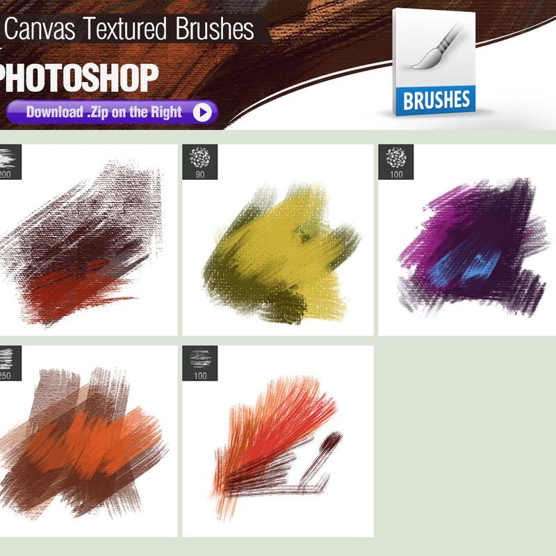 Photoshop brushes canvas, texture